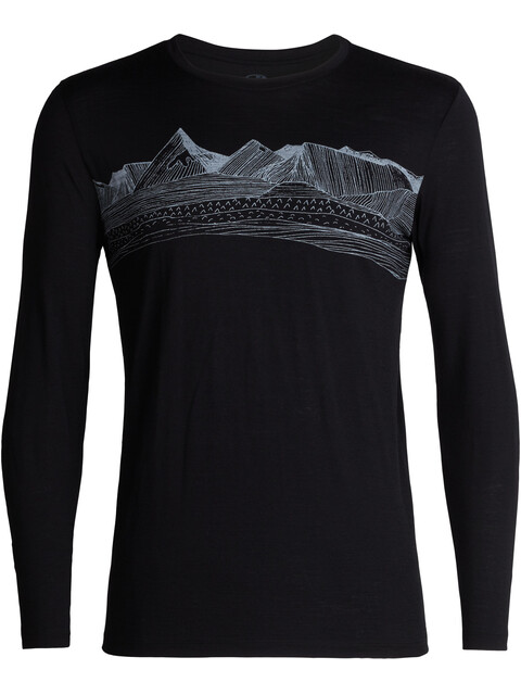 Icebreaker Tech Lite Pyrenees LS Crew Shirt Men Black